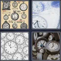 4 Pics 1 Word 6 Letters Clocks