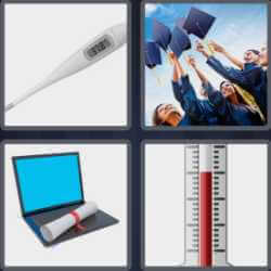 4 Pics 1 Word 6 Letters Degree