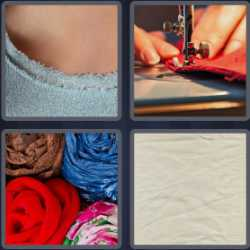 4 Pics 1 Word 6 Letters Fabric