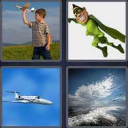 4 Pics 1 Word 6 Letters Flight
