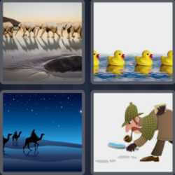 4 Pics 1 Word 6 Letters Follow