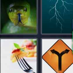 4 Pics 1 Word 6 Letters Forked