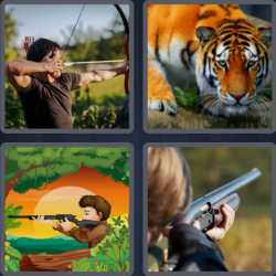 4 Pics 1 Word 6 Letters Hunter