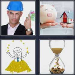 4 Pics 1 Word 6 Letters Income