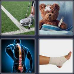 4 Pics 1 Word 6 Letters Injury