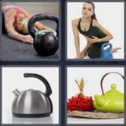 4 Pics 1 Word 6 Letters Kettle