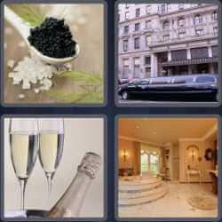 4 Pics 1 Word 6 Letters Luxury