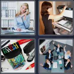 4 Pics 1 Word 6 Letters Office