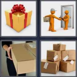 4-pics-1-word-6-letters-parcel