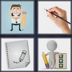 4 Pics 1 Word 6 Letters Pencil