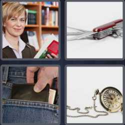 4 Pics 1 Word 6 Letters Pocket