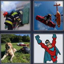 4 Pics 1 Word 6 Letters Rescue