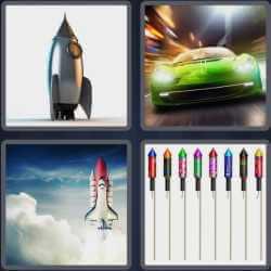 4 Pics 1 Word 6 Letters Rocket