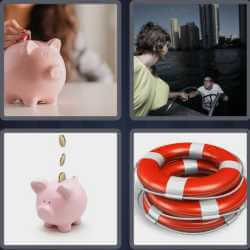 4 Pics 1 Word 6 Letters Saving
