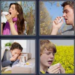 4 Pics 1 Word 6 Letters Sneeze
