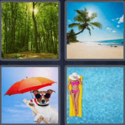 4 Pics 1 Word 6 Letters Summer