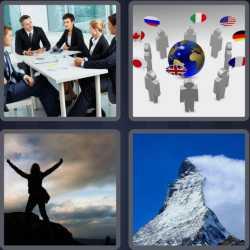 4 Pics 1 Word 6 Letters Summit