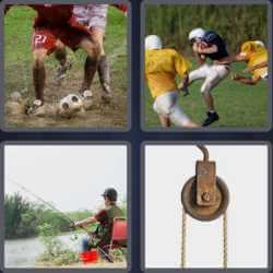 4 Pics 1 Word 6 Letters Tackle