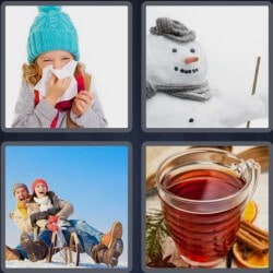 4 Pics 1 Word 6 Letters Winter