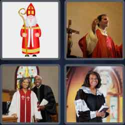 4 Pics 1 Word 6 Letters Clergy