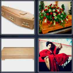 4 Pics 1 Word 6 Letters Coffin