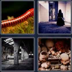 4 Pics 1 Word 6 Letters Creepy