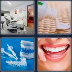 4 Pics 1 Word 6 Letters Dental