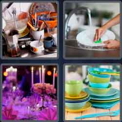 4 Pics 1 Word 6 Letters Dishes