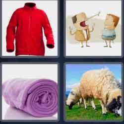 4 Pics 1 Word 6 Letters Fleece