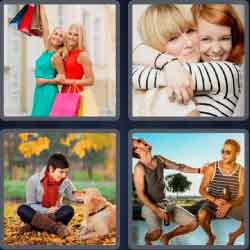 4 Pics 1 Word 6 Letters Friend