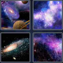 4 Pics 1 Word 6 Letters Galaxy