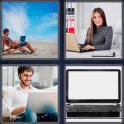 4 Pics 1 Word 6 Letters Laptop