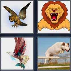 4 Pics 1 Word 6 Letters Level 3694 Pounce