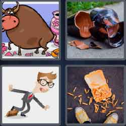 4 Pics 1 Word 6 Letters Level 3695 Clumsy