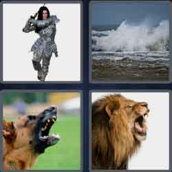 4 Pics 1 Word 6 Letters Level 3697 Fierce
