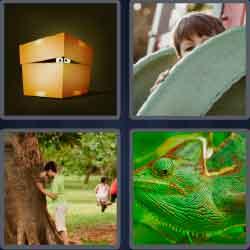 4 Pics 1 Word 6 Letters Level 3712 Hiding