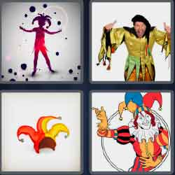 4 pics 1 word 6 letters clown hat