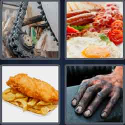 4 pics 1 word 6 letters greased chain