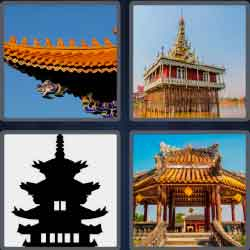 4 pics 1 word 6 letters Asian temple