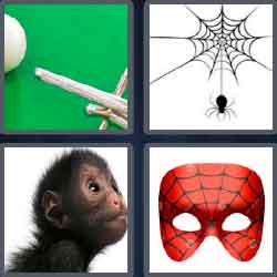4 pics 1 word 6 letters Spiderman mask