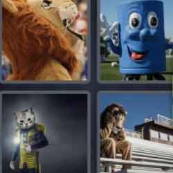 4 Pics 1 Word 6 Letters Mascot