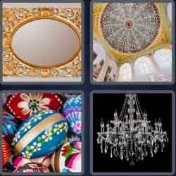 4 Pics 1 Word 6 Letters Ornate