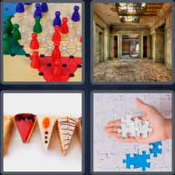 4 Pics 1 Word 6 Letters Pieces