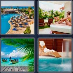 4 Pics 1 Word 6 Letters Resort