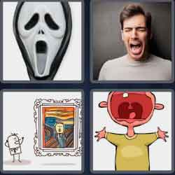 4 Pics 1 Word 6 Letters Scream