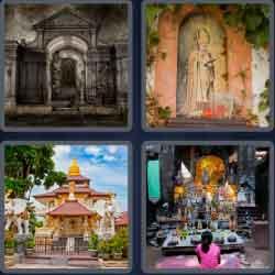 4 Pics 1 Word 6 Letters Shrine