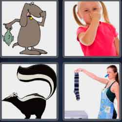 4 Pics 1 Word 6 Letters Smelly