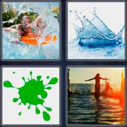 4 Pics 1 Word 6 Letters Splash