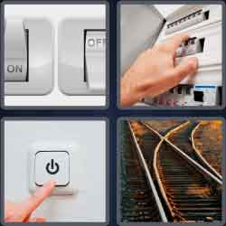 4 Pics 1 Word 6 Letters Switch