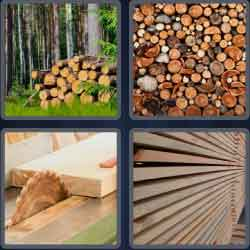 4 Pics 1 Word 6 Letters Timber